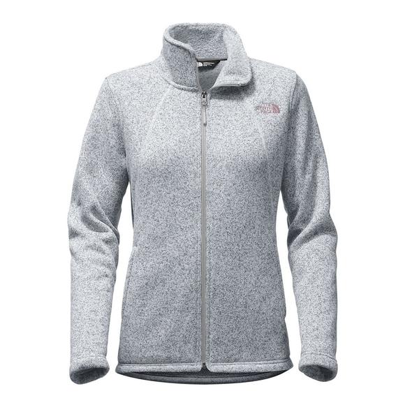 Grey North Face Crescent Full Zip Women's Fleece